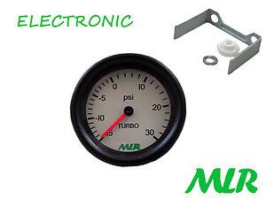 52MM 30PSI Calibro di Spinta Bianco Viso Elettronica Stepper Motore Movimento