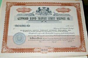 #S116,Vintage Stock Railroad,Glenwood Rapid Transit PA,1900 UNC