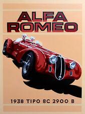 "Alfa Romeo, Retro metal Sign/Plaque, Gift, Home, Garage 10"" x 8"" Large"