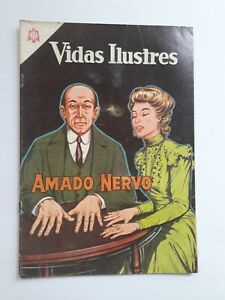 VIDAS ILUSTRES #106 - AMADO NERVO - ORIGINAL IN SPANISH VERSION -COMIC NOVARO