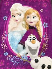"Disney Frozen Fleece Blanket 40"" x 55"" ANNA - ELSA & OLAF Soft Warm Vibrant!"