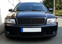 Audi A6 C5 4B RS 6 Style Badgeless Euro Front Sport Hex Mesh Grill S Line 01-04