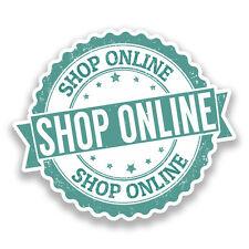 2 x shop online vinyle autocollants shop décoration #7250
