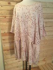 LA BASS Shirt/Tunika Allover-Print mit STERNEN rosa Gr 50-54 halber Arm