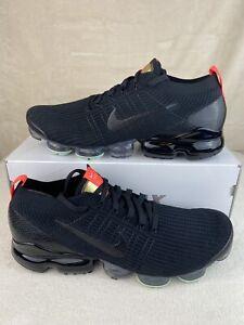 New Nike Air VaporMax Flyknit 3 Black Igloo Snakeskin AJ6900-023 Mens Shoes S 14