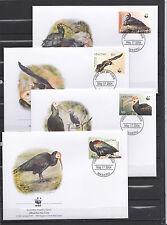 Lesotho 2004 - FDC - Vogels/Birds/Vögel  WWF/WNF