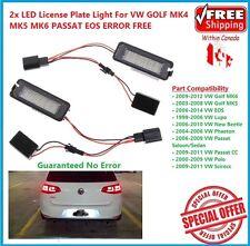 2x LED  License Plate Housing Volkswagen GOLF MK4 MK5 MK6 PASSAT EOS ERROR FREE