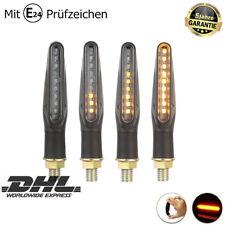 4X Dynamische LED Motorrad Mini Blinker Sequentiell Lauflicht E-Prüfzeichen 12V