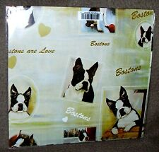 BOSTON TERRIER - Gift Wrapping Paper w/matching Gift Card by Ruth Maystead