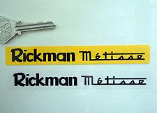 RICKMAN METISSE Number Plate Dealer Logo Cover STICKER Yellow Motorcycle Bike