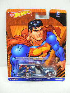 Hot Wheels 1/64 DC Comics Superman Custom 52 Chevy Blue Real Riders