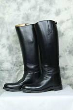 Men's moto police motard noir Riding Tall Bottes Cavalières Handmade UK 5-12