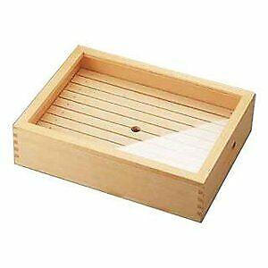 Yamako Wooden netsuke box with eyelet and acrylic lid, large ANT1101 From Japan