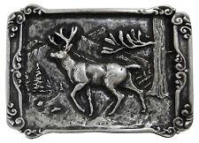 FRONHOFER Hirsch Trachten Gürtelschnalle, Wald Trachten Jäger Buckle, 4 cm