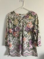 Womens Alfred Dunner Shirt Top Olive Green Size L Large R5