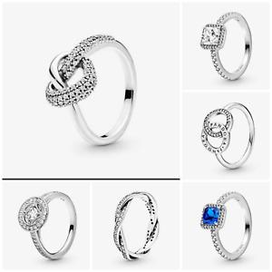 PANDORA Genuine Rings- Sparkle CZ   925s + Pandora Pouch & Gift Bag B02