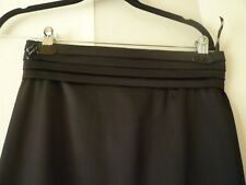 KAREN MILLEN  BLACK PENCIL SKIRT SATIN SIZE 10    EVENING PARTY