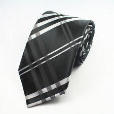 BLACK AND WHITE Stripe con motivo fatto a mano 100% Cravatta Di Seta