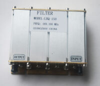Filter 30W 4 cavity 136-180MHz VHF Band-pass with SMA connector Small Size silve