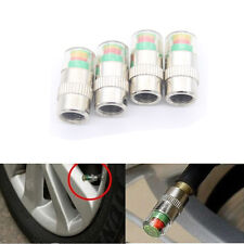 4 x Car Valve Tyre Caps Dust Monitor Wheel Pressure 30-32-36 PSI Tire Air Sensor
