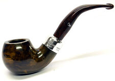 Peterson Ashford Sterling Silver Mounted Apple Bent Briar Pipe (03)