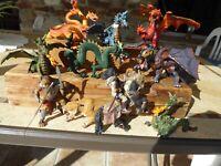 12 figurines pvc figures figuren figuras dragons ,mutants papo