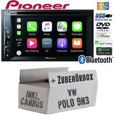 Pioneer Radio für VW Polo 9N3 2-DIN CanBus Interface Bluetooth Apple CarPlay Set