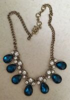 J crew Blue  Teardrop and white Necklace Beautiful