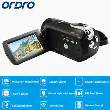 "Ordro HDV-D395 3.0""Touch Screen1080P HD Digital Video Camera 18×Zoom 24MP Record"