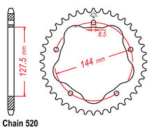 Couronne pr Kit chaine en aluminium Ducati Monster 800 i.e. S2R  2005 - 2007