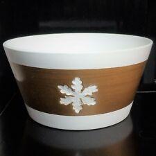 White/Gold Ceramic Flower Vase,Planter,Pot,Bowl,Snow Flake,12 x 22.5 Cm,Fast P&P