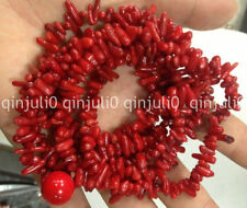 48 inch Natural 4x10mm Red Branch Coral Necklace JN1155