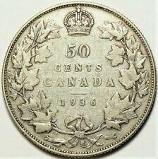 1936 Canada 50 cents KM#25a Silver #11593