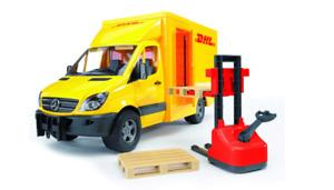 MB Sprinter Courier DHL Delivery with a Forklift Bruder Toy Car Model 1/16 1:16