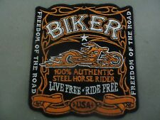 STEEL HORSE LIVE FREE RIDE FREE IRON ON BIKER VEST PATCH HARLEY DAVIDSON VICTORY