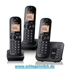 Panasonic KX-TGC 223 Schnurlostelefon mit Anrufbeantworter in schwarz
