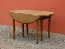 Tavolo tavolino allungabile ovale a bandelle, rovere, fine '800!