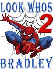 PERSONALIZED SPIDERMAN BIRTHDAY SHIRT ADD NAME & AGE FOR FAMILY