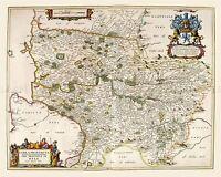 MAP ANTIQUE 1654 SCOTLAND BLAEU KYLE AYRSHIRE LARGE REPLICA POSTER PRINT PAM0132