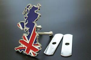 England British UK Metal Car Front Grille Fender Bumper Badge Decal Emblem