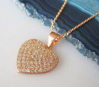 Herz Anhänger Ankerkette ECHT 925 Silber Herzkette Gelbgold vergoldet Geschenke