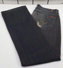 7 Seven For All Mankind Women's Jeans - Dark Wash - 100% Cotton - Size 34/33