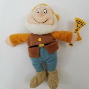 "Happy 6"" Bean Bag Plush ~ Disney Applause Snow White and the Seven Dwarfs Beanie"