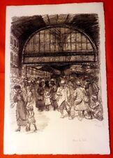 Lithographie - Steinlen - Dans le hall - Guerre 14-18-