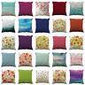 Flower Printed Throw Pillow Case Sofa Waist Pillowcase Cushion Cover Home Decor