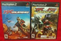 MX Unleashed + MX Untamed Racing -  PS2 Playstation 2 Tested Game Lot