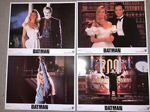 4 Warner Brothers 1989 Batman Movie 11x14 Lobby Cards-Mint