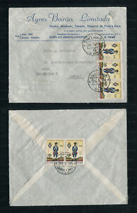 Portugal St. Thomas Sao Tome 1966 Cover to Sweden, MILITARY UNIFORMS