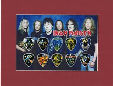 Iron Maiden Matted Picture Guitar Pick Set The Trooper Bruce Dickinson
