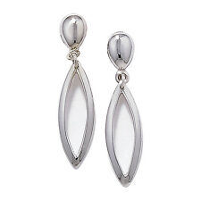 9Carat Drop/Dangle White Gold Fine Earrings without Stones